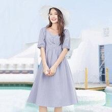 INMAN 2020 Summer New Arrival Square Collar Nipped Waist Elegant Romantic Princess Dress