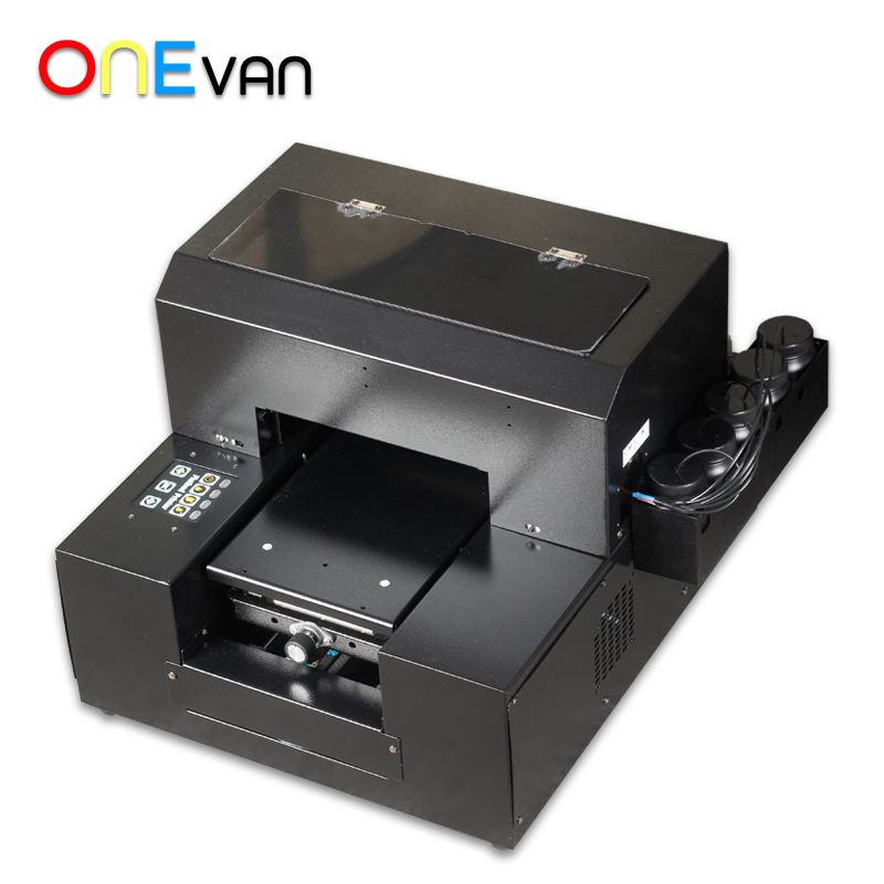 free shipping.A4 UV Printer UV Flatbed Printer for Phone Case, metal,pvc card,leather,phone case printer with UV ink - 3