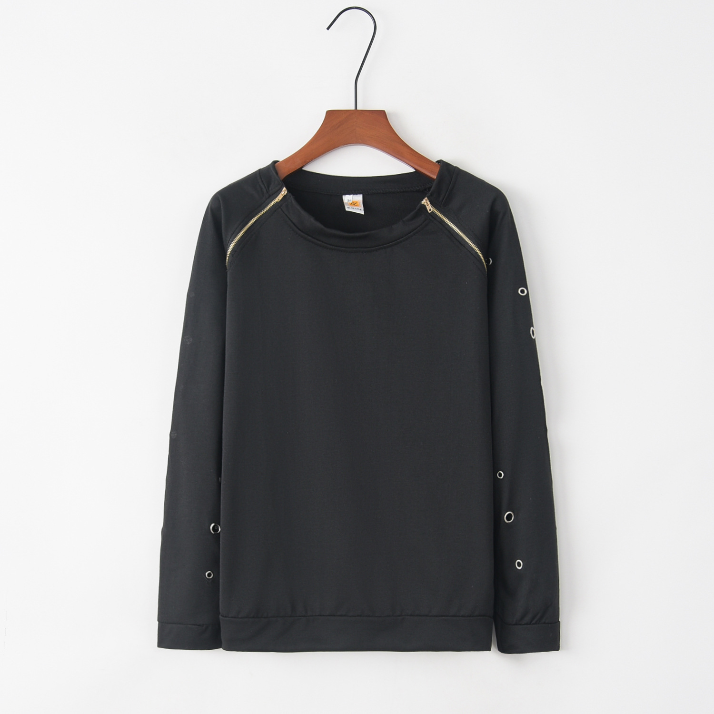 Zipper Cross 2020 New Design Hot Sale Hoodies Sweatshirts Women Casual Kawaii Harajuku Sweat Girls European Tops Korean