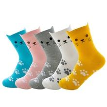 Socks Girls Winter for Thick Warm Cotton Kawaii Ladies Fashion Animal Cartoon Women Cute