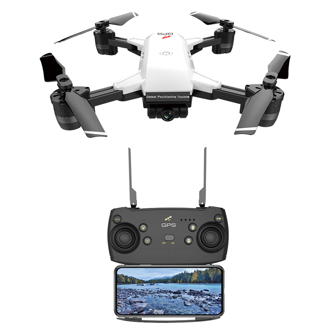 JD-20GPS 5G 2.4G 1080P Folding Remote Control Drone Quadrotor With HD Aerial Precise Return And Long Endurance Educational Toy