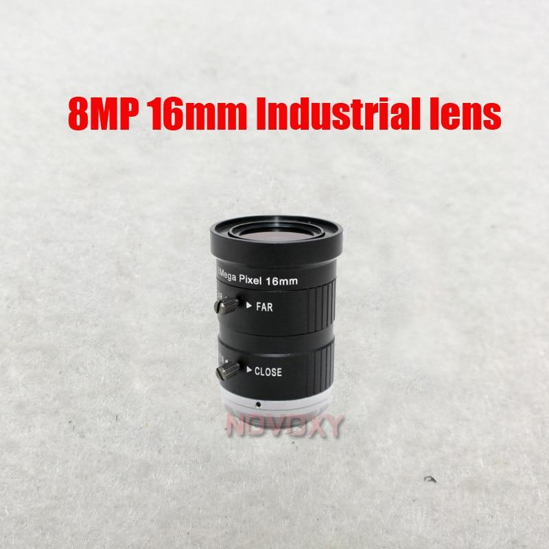 "DIY 8 Megapixel HD16mm Industrial CCTV Lens CS Mount 8MP 1"" IR F1.4 Wide for CCTV Analog / IP Camera Free Shipping"