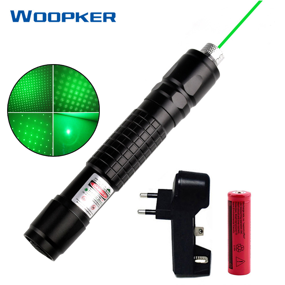 Powerful Green Laser Pointer 8000-10000 Meters Star Pen with Star Cap Flashlight Laser Sight