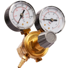 HLZS-Argon CO2 Gas Cylinder Pressure Regulator MIG TIG Welding Flow Meter Pressure Gauge W21.8 1/4 Thread 0-20 Mpa Regulator