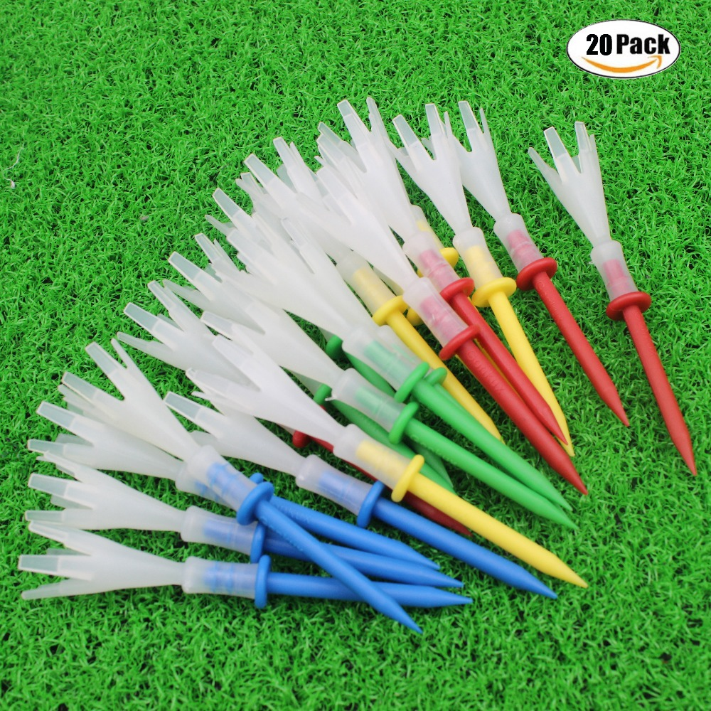 CRESTGOLF Multi Color Plastic Golf Tees 3-1/4 Inches Golf Tees 3.25'' Tee 4 Yards Gonkux Golf Accessories 12pcs/lot