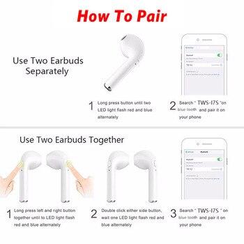 I7s TWS Bluetooth Earphone Stereo Earbud Wireless Bluetooth Earphones In-ear Headsets For All Smart Phone Sport headphones 6