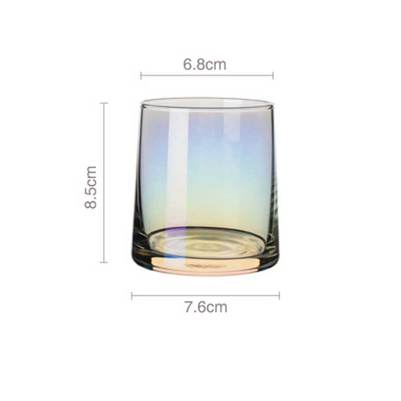 Transparent Japanese Whiskey Glass Cup Crystal Wine Cocktail Brandy Glass Home Kitchen Drinking Glasses 260ml Creative
