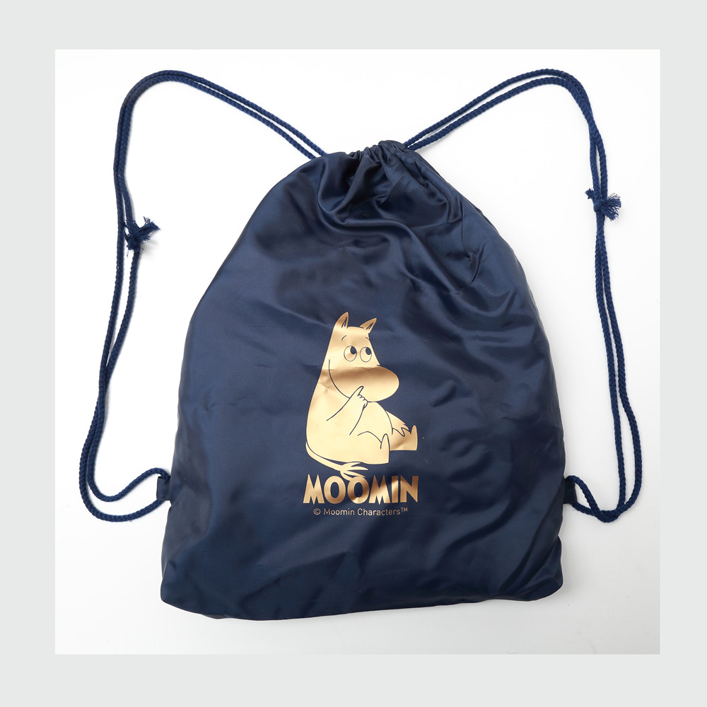 Moomin Muumi 2019 New Fashion Bag Cartoon White Linen Silk Bag Light Cute Print 36cm*44cm Bag Purse Muumi Drawstring Bag