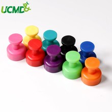 9pcs Strong Neodymium Fridge Magnets Pushpin Colorful thumbtack for Fridge Door Whiteboard Bulletin Boards office photo Files