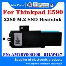 Nbx0001gb00 01lw427 para lenovo thinkpad e590 nvme 2280 m. 2 carcasa para disco duro ssd com suporte de dissipador de calor