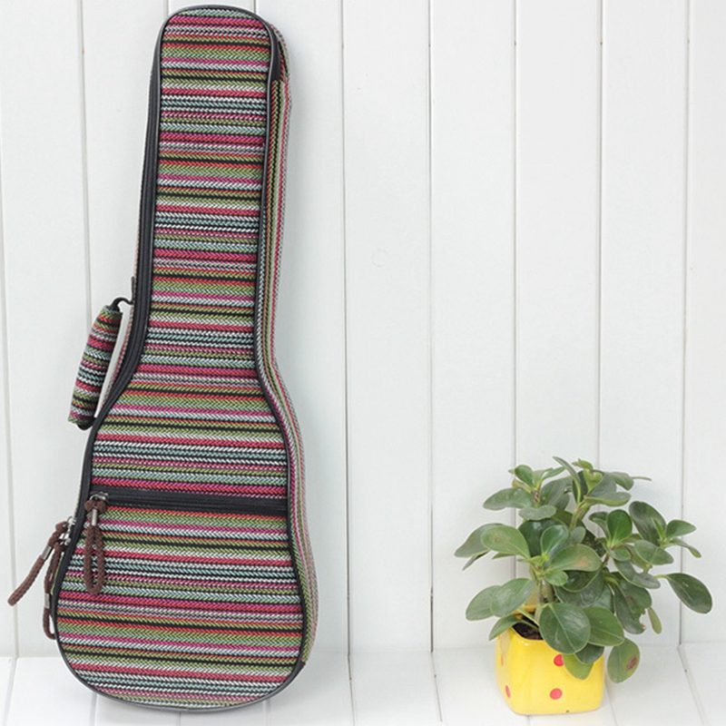 21 Inch / 23 Inch Ethnic Knitting Style Ukulele Bag Backpack Double Shoulder Strap Cotton Padded Ukulele Carrying Case