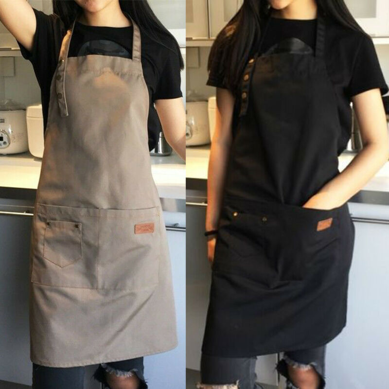 Pure Color Cooking Kitchen Apron For Woman Men Chef Waiter Cafe Shop BBQ Hairdresser Aprons Bibs Kitchen Accessory Dropshipping