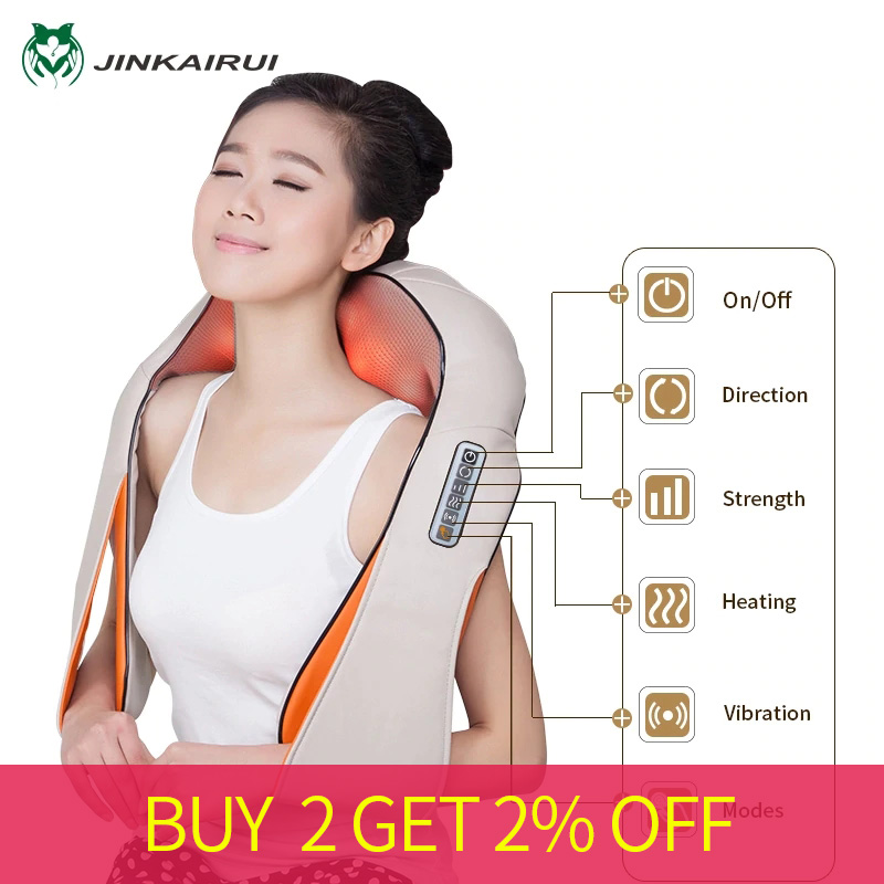 Multifunction U Shape Electrical Shiatsu Back Neck Shoulder Massager Body Infrared Kneading Massager Home Office Cars Massagem-in Massage & Relaxation from Beauty & Health    1