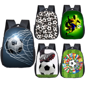 12 Inch Cool Soccerly / Footbally Print Backpack for 2-4 Years Old Kids Children School Bags Small Toddler Bag Kindergarten Bags