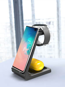 3 in 1 Qi Wireless Charger For Samsung S10 10W Fast Charger Dock For Samsung Watch Active