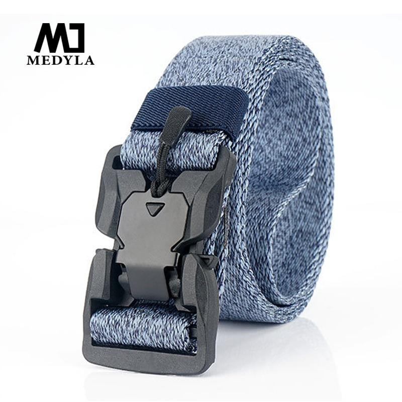 2019 New Trend Nylon Belt Casual Men's Belt Tactics ABS Magnet Function Buckle Tactical Belt