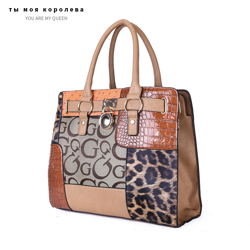 New Luxury Women Patchwork Print Messenger Bags 2020 Ladies Handbag PU Leather Crossbody Shoulder Bag High Quality Tote Bags
