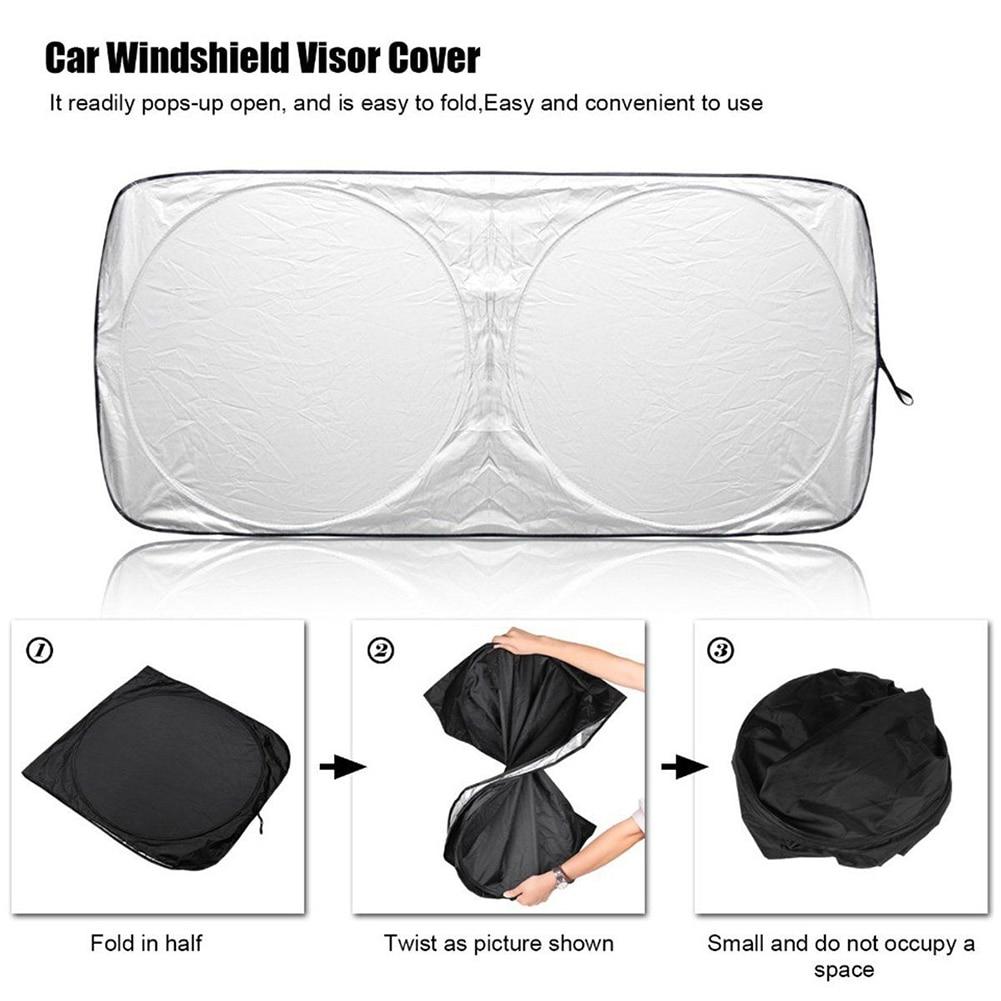 Car Windshield Sun Shade | Durable 240T Material Car Sun Visor for UV Rays and Sun Heat Protection