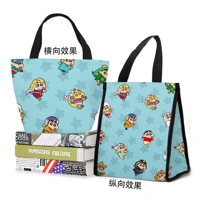 Bolsas dos Desenhos Bolsa de Armazenamento Lismo Crayon Shin-chan Moda Personalizado Almoço Animados Quente Portátil Meninas Unisex Boy