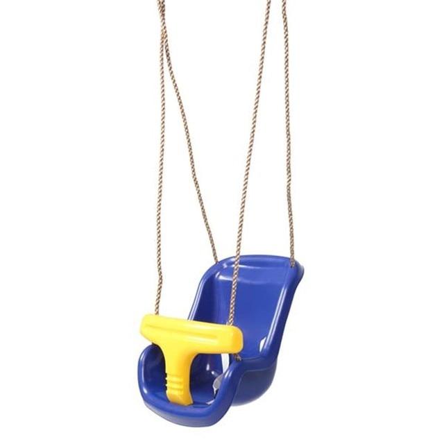 High Back Infant Swing Wide Seat Belt Baby Swing Chair Hanging Children Kindergarten Outside Indoor Small Basket Swinging 2