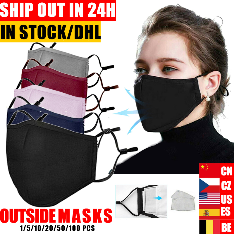 Mouth Mask Dust Respirator Washable Reusable Masks Cotton Unisex Mouth Muffle For Allergy/Asthma/Travel