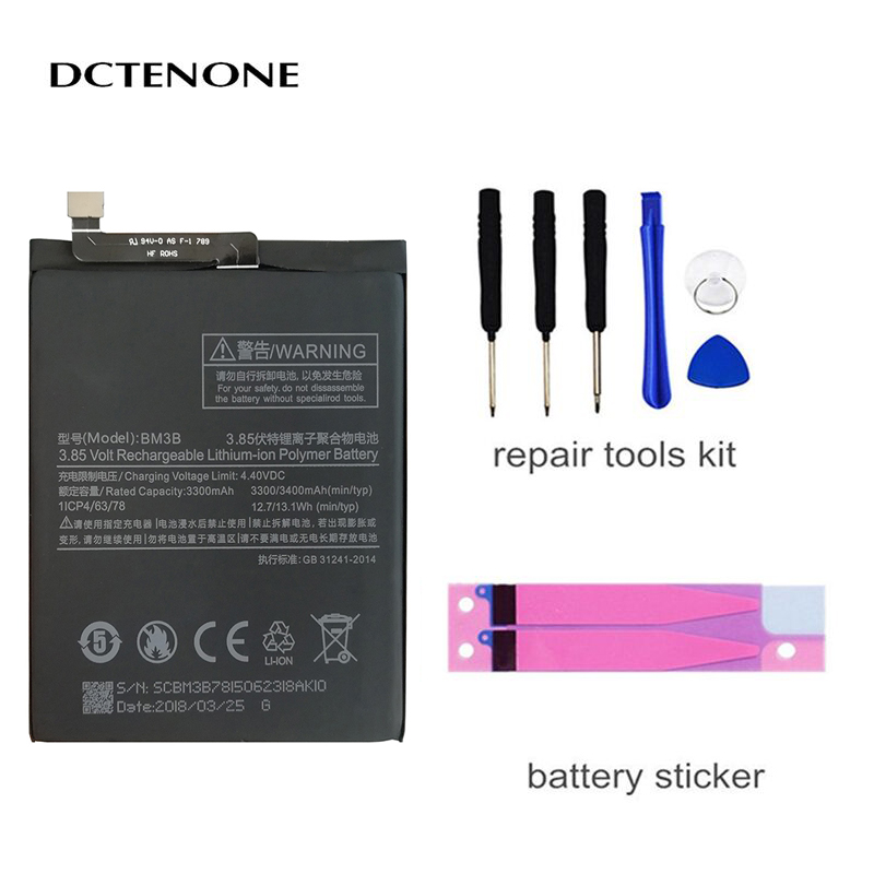 DCTENONE Phone <font><b>Battery</b></font> for Xiao <font><b>Mi</b></font> Replacement <font><b>Battery</b></font> BM3B For Xiaomi <font><b>MIX</b></font> 2 <font><b>2S</b></font> 3400mAh High Capacity Phone <font><b>Batteries</b></font> Free image