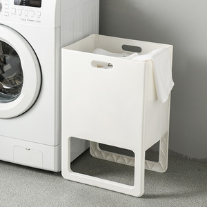 Plastic Dirty Laundry Basket Folding Clothes Storage Basket Household Laundry Hamper for Bedroom Bathroom Organizer Stand up
