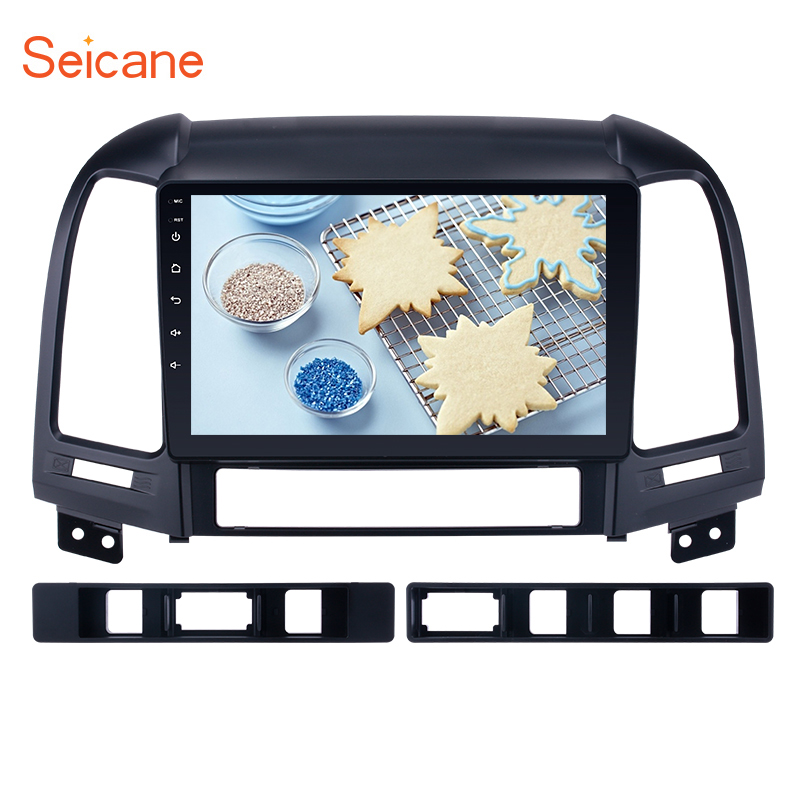 Seicane 4+64GB Android 9.0 IPS screen for <font><b>Hyundai</b></font> <font><b>SANTA</b></font> <font><b>FE</b></font> 2006-2012 <font><b>GPS</b></font> navi Car Head Unit Radio Support Steering Wheel Control image