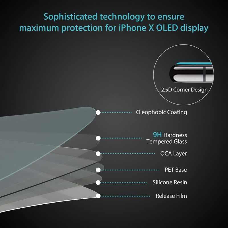 زجاج واقي مضاد للبصمة على آيفون 7 X XR XS 11 Pro Max واقي للشاشة زجاج آيفون 7 8 6 6S 5 5s SE 4 4s