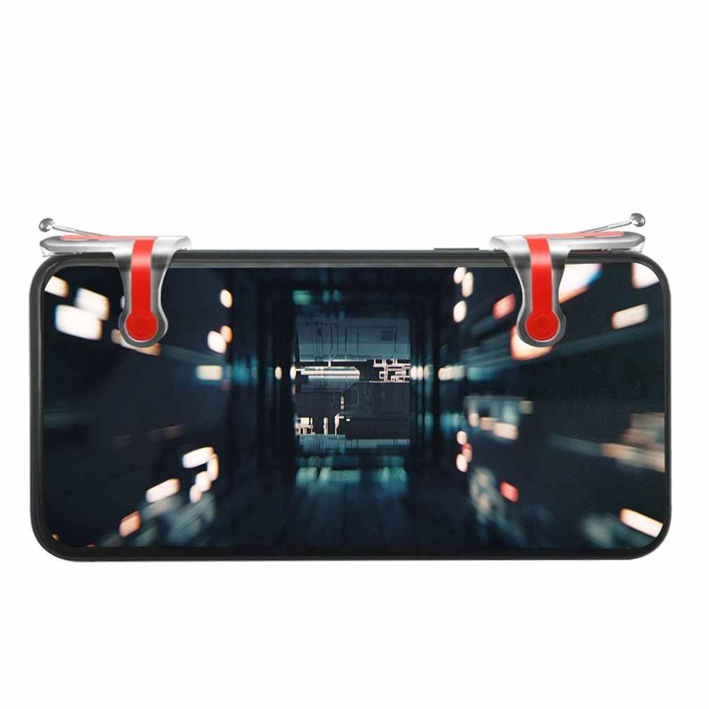 2 Pcs Pubg Mobile Phonetrigger Pulsante di Fuoco Maniglia Shooter Mobile Controller di Gioco Pulsante di Fuoco Bersaglio Chiave per Ios Andriod