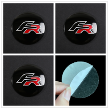 4Pcs/Pack 56mm FR Logo Car Steering tire Wheel Center 3D sticker Hub Cap Emblem Badge Decals Car styling Accessory