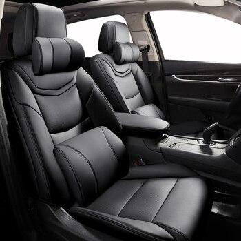 Custom Leather car seat cover For hyundai solaris tucson 2017 creta getz i30 i20 accent ix35 accessories covers for vehicle seat
