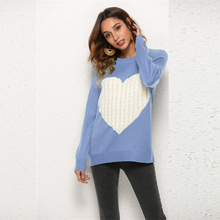 Fashion Love Sweater 2019 Autumn Winter Sweater Women Casual Soft Long Sleeve O-Neck Knitted Sweater Pullover Slim Tops 11 color womens casual o neck sweater knitted loose long sleeve tops slim fit pullover