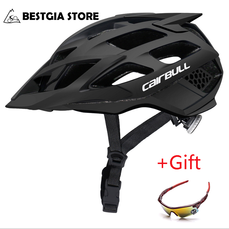 Cairbull Riding Cycling Helmet with Sunglasses Breathable In-mold Road Mountain Bike Helmet Integrally-molded MTB Bicycle Helmet image