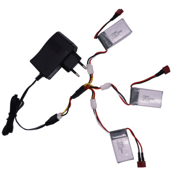 7.4V 1200mah 703048 Lipo Battery T Plug and Charger For RC helicopter toys accessory 7.4V 2S upgrade 1000mah toys battery image
