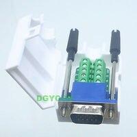 Tüketici Elektroniği'ten Pil Aksesuarları ve Şarj Aksesuarları'de DHL/EMS 20 Setleri * DB15 D SUB VGA erkek adaptörü 15 Pin Terminali Breakout Plastik kapaklı vidalı 3 + 6 h2