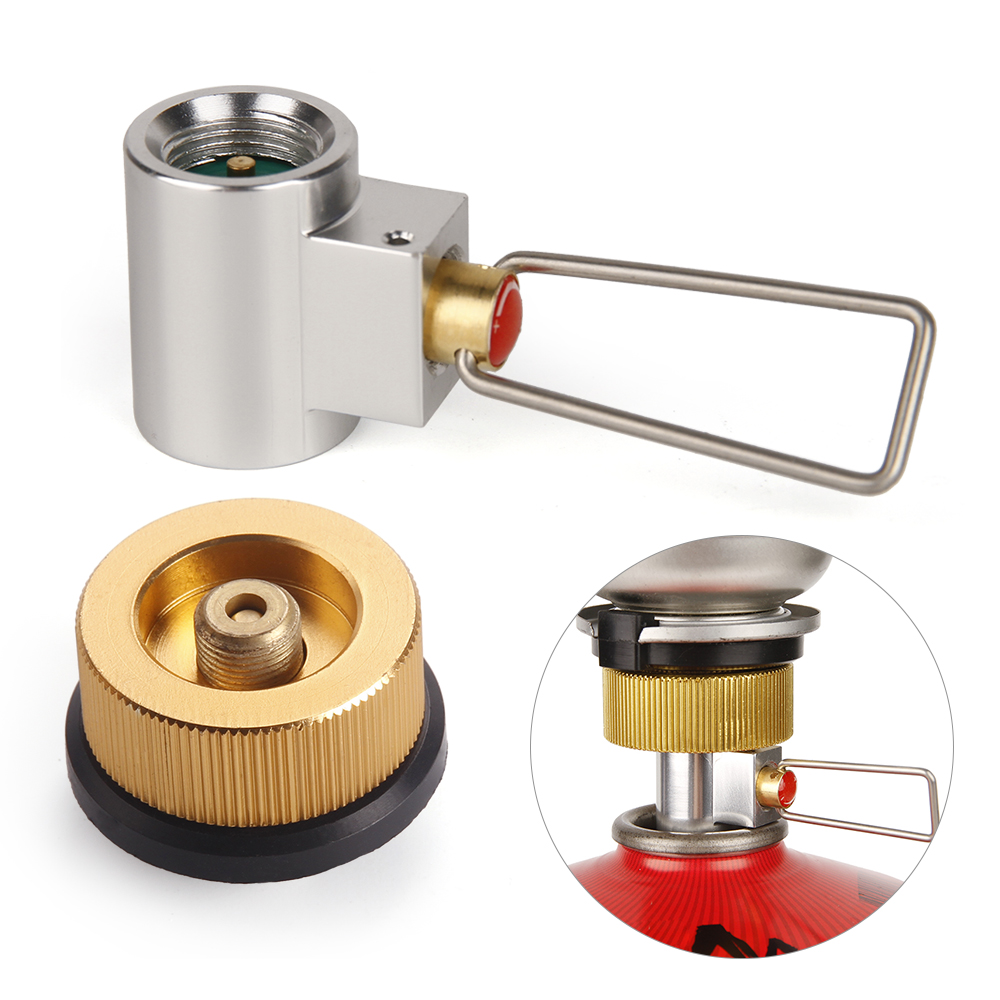 Outdoor Camping Stove Refill Adapter Flat Gas Adapter Valve Canister Gas Convertor Shifter Cylinder Refill Adapter
