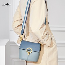 ZOOLER Fashion Genuine Leather Women Bags High Quality Small Flap Woman Shoulder Bag Double Chain Crossbody Messenger CK208