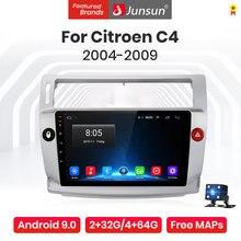 Junsun V1 Pro 4G + 64G androida 10.0 4G samochód Radio odtwarzacz multimedialny dla Citroen C4 2004 - 2009 GPS nie ma 2din Radio samochodowe