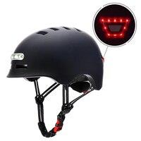 Casco de bicicleta inteligente para hombre y mujer, resistente al agua, luz trasera, para patinete eléctrico de montaña o carretera, 54-61 CM