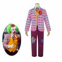 Film Joker Cosplay Kostüm Arthur Fleck Cosplay Volle Set Unisex Halloween Kostüm