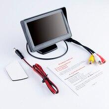 """Hippcron moniteur de voiture 4.3 """"écran pour vue arrière caméra de recul TFT LCD écran HD numérique couleur 4.3 pouces PAL/NTSC"""