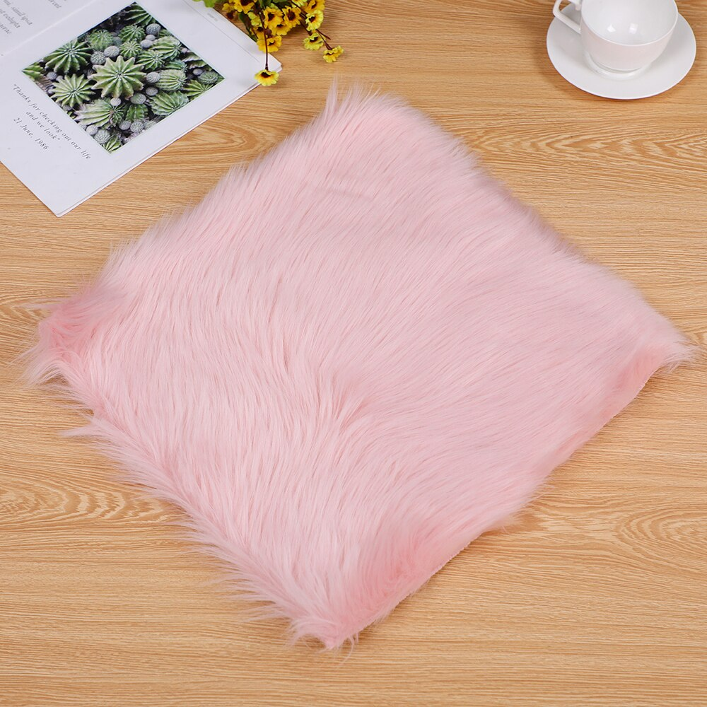 Hot Sale Faux Sheepskin Chair Cover MultiColors Warm Hairy Wool Carpet Seat Pad Long Skin Fur Plain Fluffy Area Rugs Washable