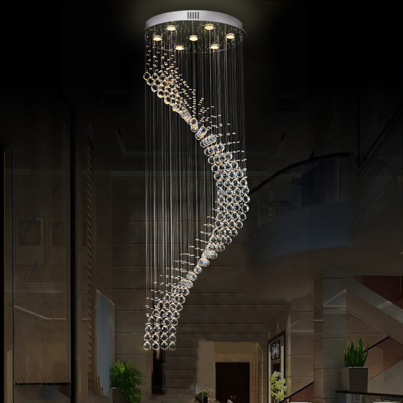 Moder crystal chandelier Europe style classical crystal chandelier with GU10 6-13 lights for staircase bedroom hotel lobby