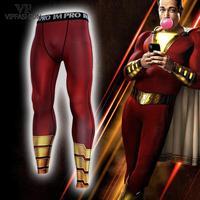 VIP FASHION Superhero 3D Printed Compression Tights Black Adam Workout Leggings Men Fitness Shazam Sweatpants Leggings Trousers