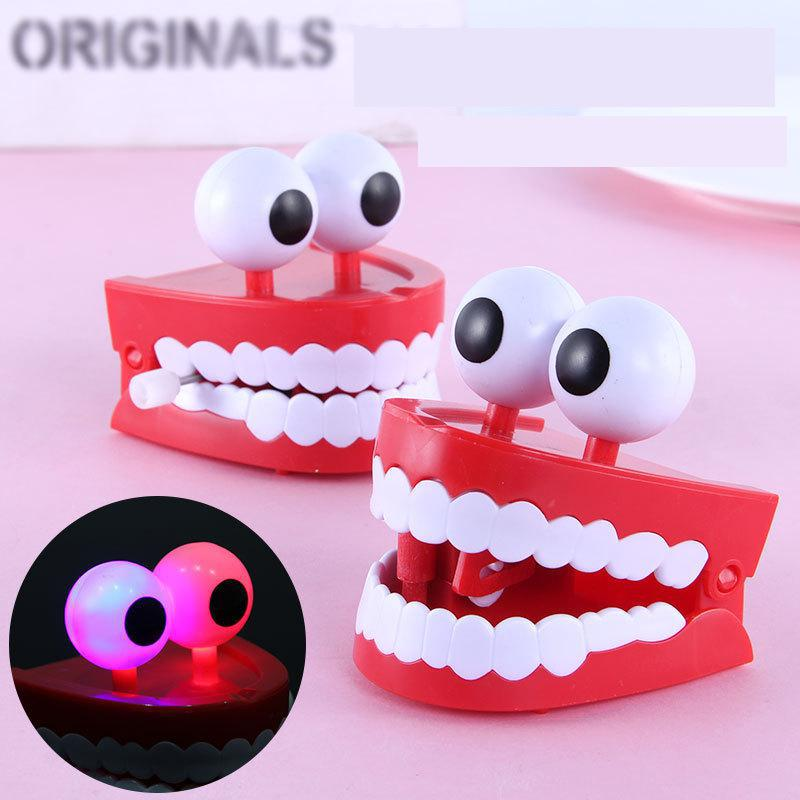 Ant Glowing Big White Teeth Clockwork Toy Tidy Strange Novelty Fun Boring Decompression Gift Artifact Anti Stress Tooth Juguetes