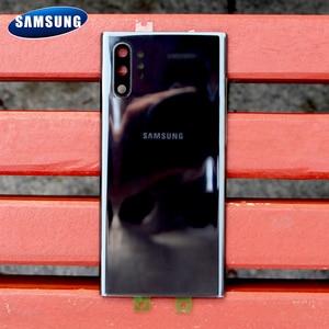 Image 3 - Original Samsung Battery Glass Back Cover for Samsung Galaxy Note 10 Note10+ Note10 Note 10 Plus Rear Housing Back Phone Case