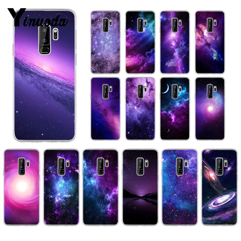 Yinuoda interstellare Lila Space <font><b>Star</b></font> Coque Shell Telefon Fall für <font><b>Samsung</b></font> S5 S6 S6 rand S6edge Plus <font><b>S7</b></font> S8 S9 plus Abdeckung image