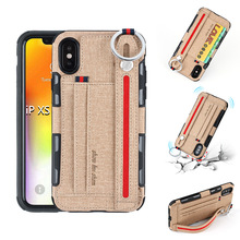 Wallet Card Business Holder Cloth Cases For iPhone11 Pro Max 7 8 iPhone XR XS XSMAX