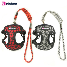 Get more info on the Zichen Pet Dog Harness Leash Adjust Knitted Fabric Breathable Mesh Nickel Buckle Dog Harness Reflective Vest 6 Color S M
